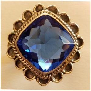 6ct Blue Sapphire Ring Size 8